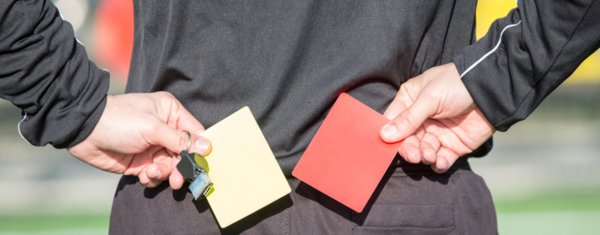 Ref cards and whistle