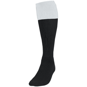 Precision Contrast Turnover Cllub Socks - Black/White