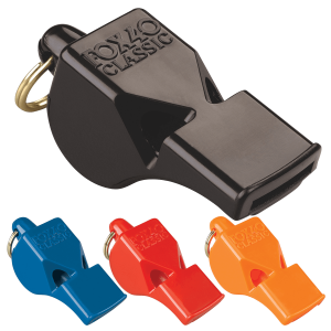 Fox 40 Classic Whistle - Black/Blue/Red/Orange